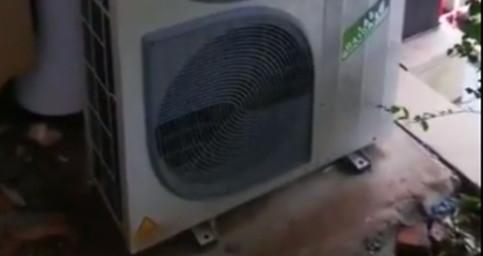 约克水生态中央空调外机调试运行中