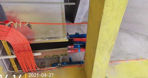 奥山别墅——约克空调两联供安装